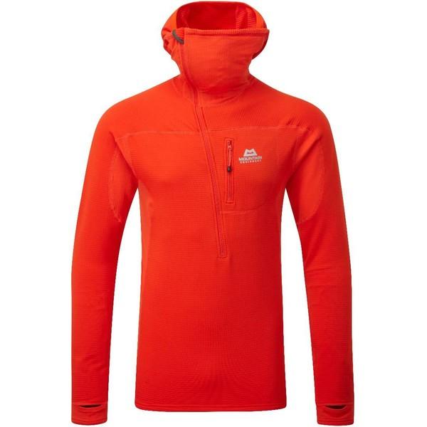 マウンテンイクイップメント メンズ Tシャツ トップス Eclipse Half-Zip Hoodie - Men's Cardinal Orange