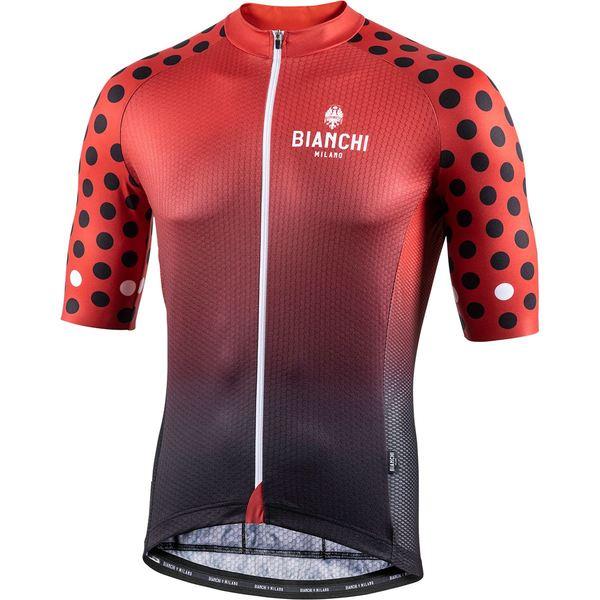 ビアンキ ミラノ メンズ サイクリング スポーツ Cedrino Jersey - Men's Black/Red