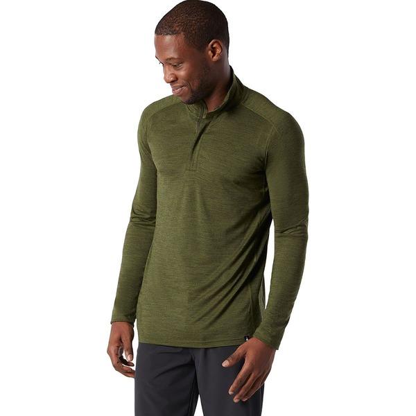 スマートウール メンズ シャツ トップス Merino Sport 150 1/4-Zip Shirt - Men's Moss Green Heather