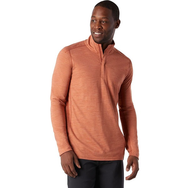 スマートウール メンズ シャツ トップス Merino Sport 150 1/4-Zip Shirt - Men's Bombay Brown Heather