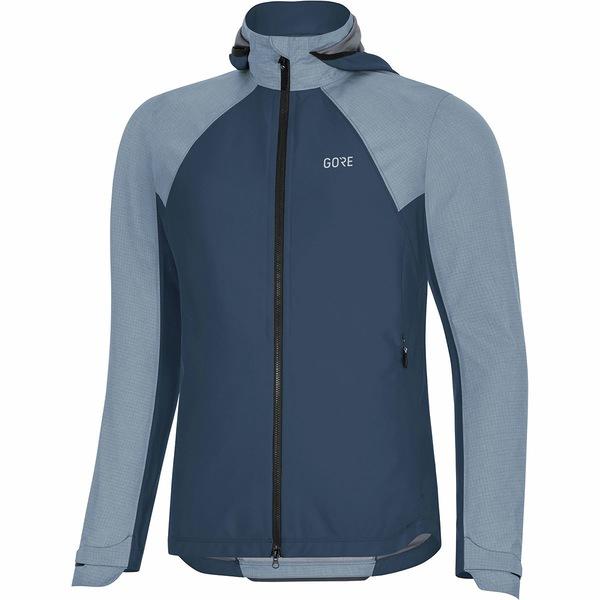 ゴアウェア レディース サイクリング スポーツ C5 GORE-TEX INFINIUM Hybrid Hooded Jacket - Women's Deep Water Blue
