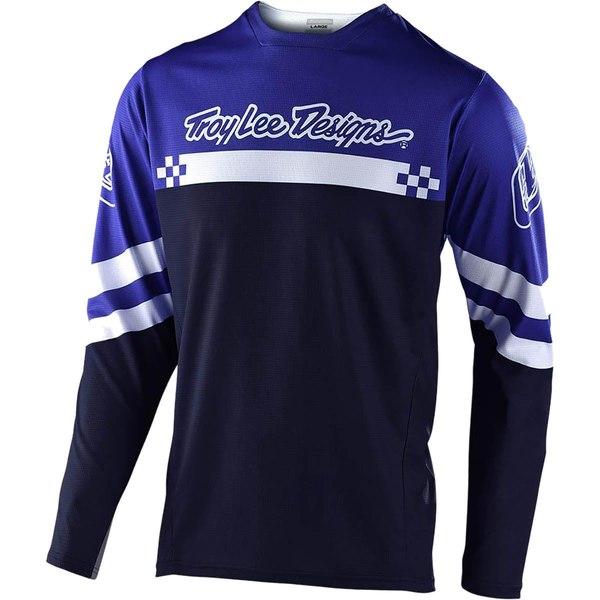 トロイリーデザイン メンズ サイクリング スポーツ Sprint Jersey - Men's Royal Blue/White