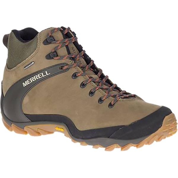 メレル メンズ ハイキング スポーツ Chameleon 8 Leather Mid Waterproof Boot - Men's Olive
