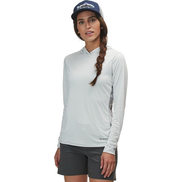 シムズ レディース ハイキング スポーツ Solarflex Hooded Print Shirt - Women's Cloud Camo Grey