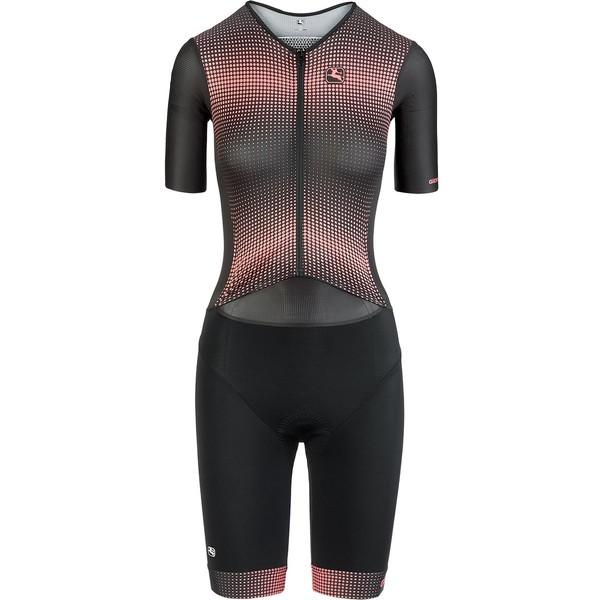ジョルダーノ レディース フィットネス スポーツ Vero Pro TRI Short-Sleeve Doppio Suit - Women's Living Coral/Black