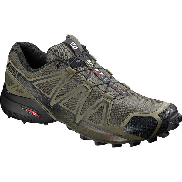 サロモン メンズ スニーカー シューズ Speedcross 4 Wide Trail Running Shoe - Men's Grape Leaf/Burnt Olive/Black