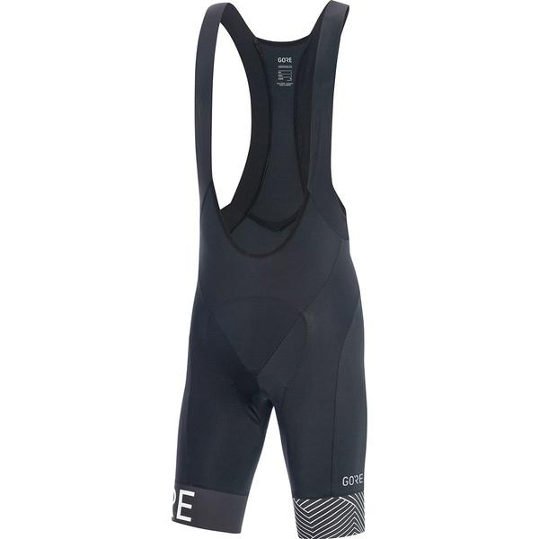 ゴアウェア メンズ サイクリング スポーツ C5 Optiline Bib Shorts+ - Men's Black/White