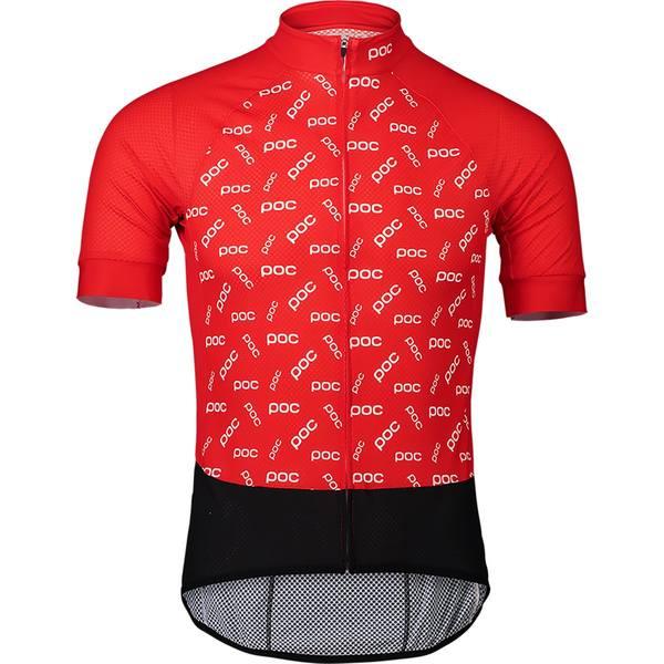 ピーオーシー メンズ サイクリング スポーツ Essential Road Logo Jersey - Men's Polka Poc Prismane Red