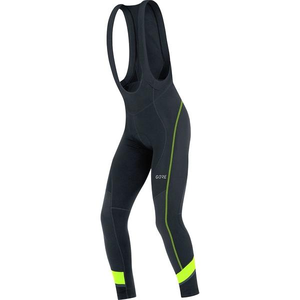 ゴアウェア メンズ サイクリング スポーツ C5 Thermo Bib Tights+ - Men's Black/Neon Yellow