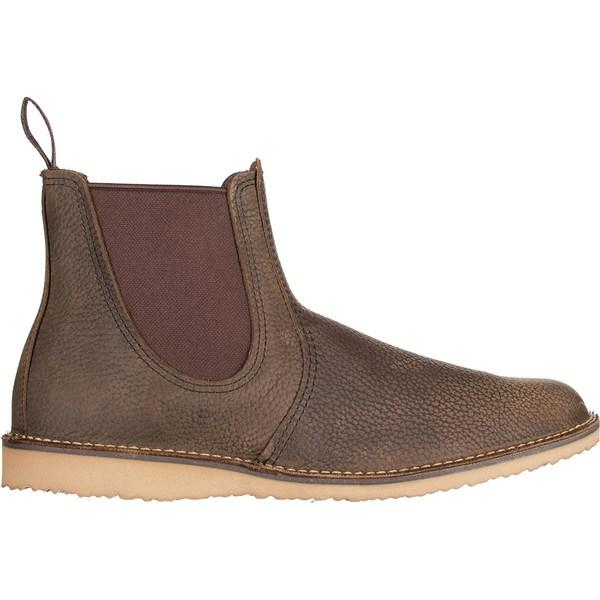 レッドウイング メンズ ブーツ&レインブーツ シューズ Weekender Chelsea Boot - Men's Olive Brown Roughneck Leather