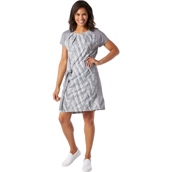 スマートウール レディース ワンピース トップス Merino Sport Short-Sleeve Dress - Women's Barely Blue Zig Zag Print