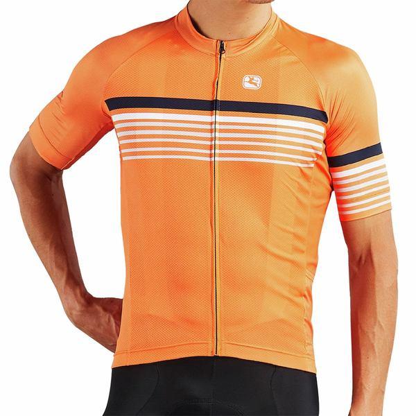 ジョルダーノ メンズ サイクリング スポーツ Moda Tenax Pro Short-Sleeve Jersey - Men's Sette Cantaloupe Orange