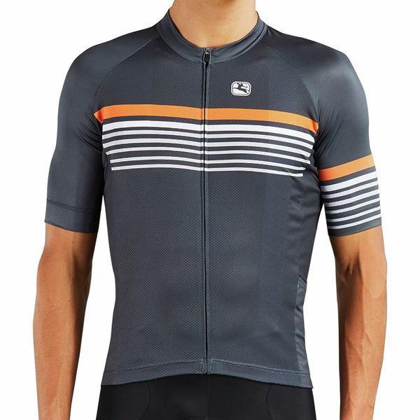 ジョルダーノ メンズ サイクリング スポーツ Moda Tenax Pro Short-Sleeve Jersey - Men's Sette Grey