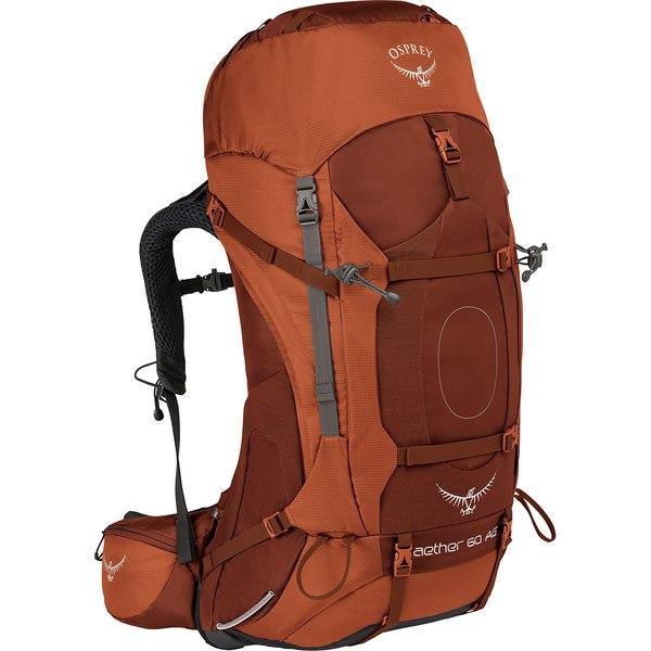 オスプレーパック レディース バックパック・リュックサック バッグ Aether AG 60L Backpack Outback Orange
