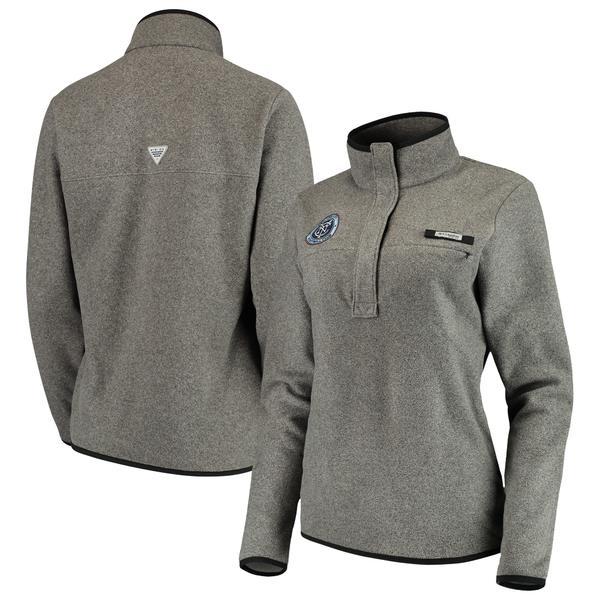 コロンビア レディース ジャケット&ブルゾン アウター New York City FC Columbia Women's Harborside Fleece Pullover Jacket Black