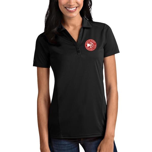 アンティグア レディース ポロシャツ トップス Atlanta Hawks Antigua Women's Tribute Polo Black