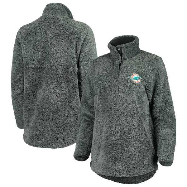 コンセプトスポーツ レディース ジャケット&ブルゾン アウター Miami Dolphins Concepts Sport Women's Trifecta Snap-Up Jacket Charcoal