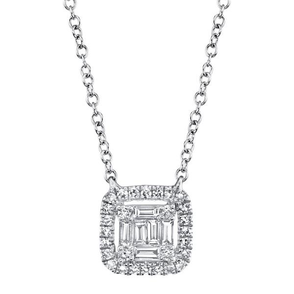 【スーパーセール】 ロンハミ レディース ネックレス・チョーカー・ペンダントトップ アクセサリー 14K White Gold Round-Cut & Baguette-Cut Diamond Pendant Necklace - 0.22 ctw WHITE GOLD/DIAMOND, 茶々VARGE d073bea1
