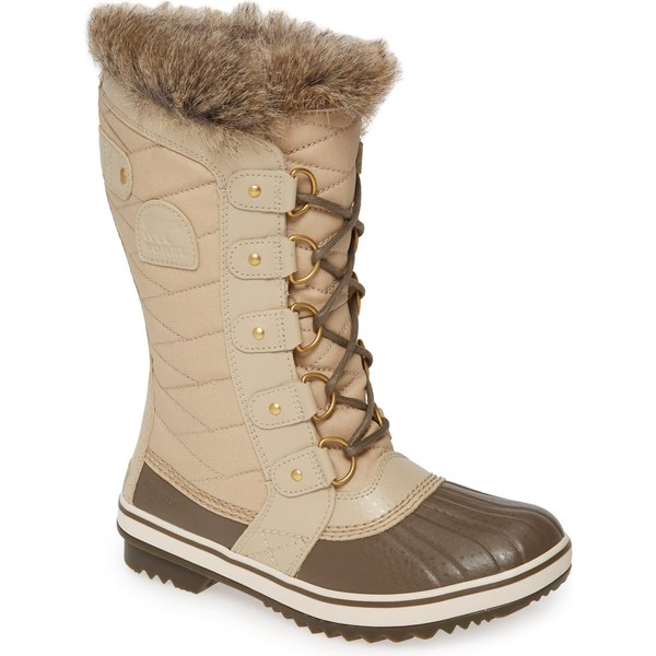 ソレル レディース ブーツ&レインブーツ シューズ SOREL 'Tofino II' Faux Fur Lined Waterproof Boot (Women) Ancient Fossil Fabric
