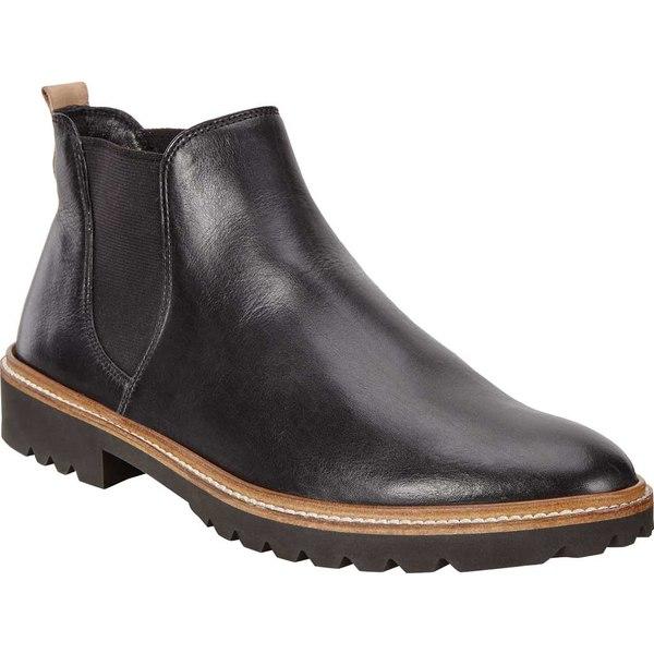 エコー レディース ブーツ&レインブーツ シューズ Women's ECCO Incise Tailored Chelsea Boot Black Cow Leather