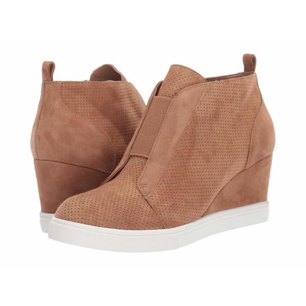 リネアパウロ レディース スニーカー シューズ Felicia Wedge Sneaker Tan Perf Suede