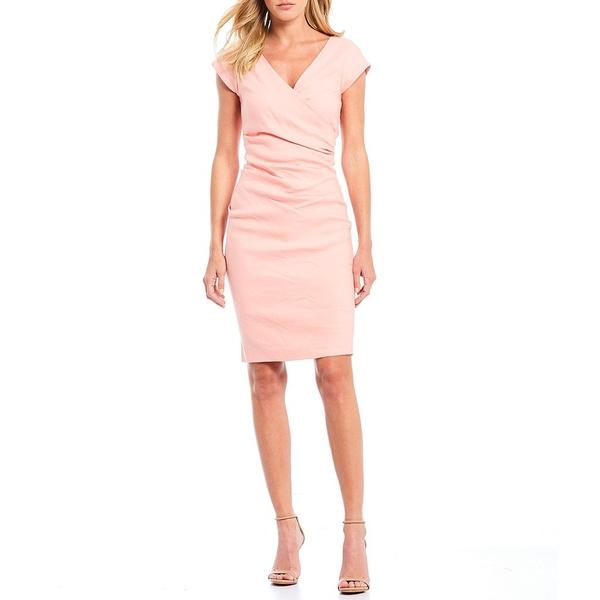 ニコルミラー V-Neck レディース ワンピース トップス Tuck V-Neck Ruched Sheath Tuck Dress ニコルミラー Petal Pink, barce:c2f76caf --- officewill.xsrv.jp
