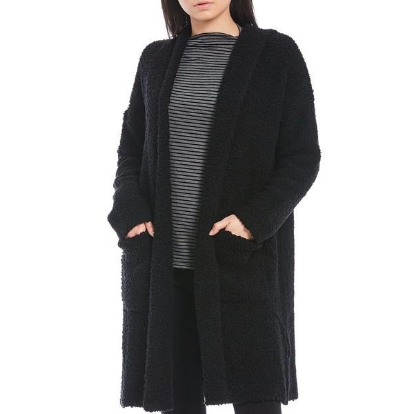 新発売の エイリーンフィッシャー レディース ニット&セーター アウター Hooded Long Wool Blend Cardigan Black, ニシキマチ 88555b06