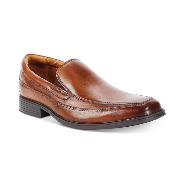 Tilden メンズ Free Leather Loafer クラークス Tan Dark シューズ スリッポン・ローファー Men's