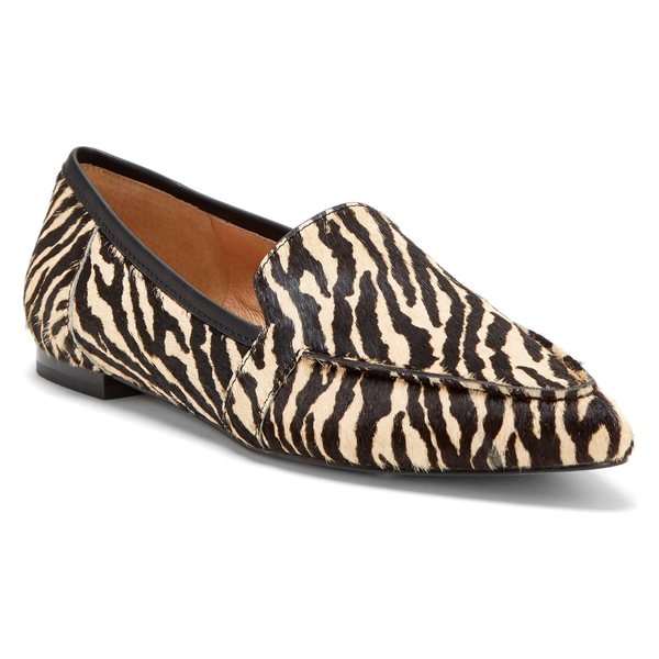 CCコルソコモ レディース サンダル シューズ CC Corso Como Jatiba Genuine Calf Hair Loafer (Women) Zebra Print Calf Hair