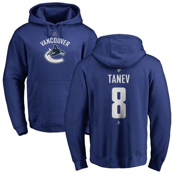 ファナティクス メンズ パーカー・スウェットシャツ アウター Vancouver Canucks Fanatics Branded Personalized Team Authentic Pullover Hoodie Royal