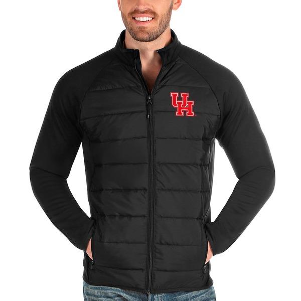 アンティグア メンズ ジャケット&ブルゾン アウター Houston Cougars Antigua Altitude Full-Zip Jacket Black