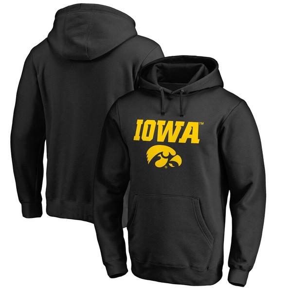 ファナティクス メンズ パーカー・スウェットシャツ アウター Iowa Hawkeyes Fanatics Branded Team Lockup Pullover Hoodie Black