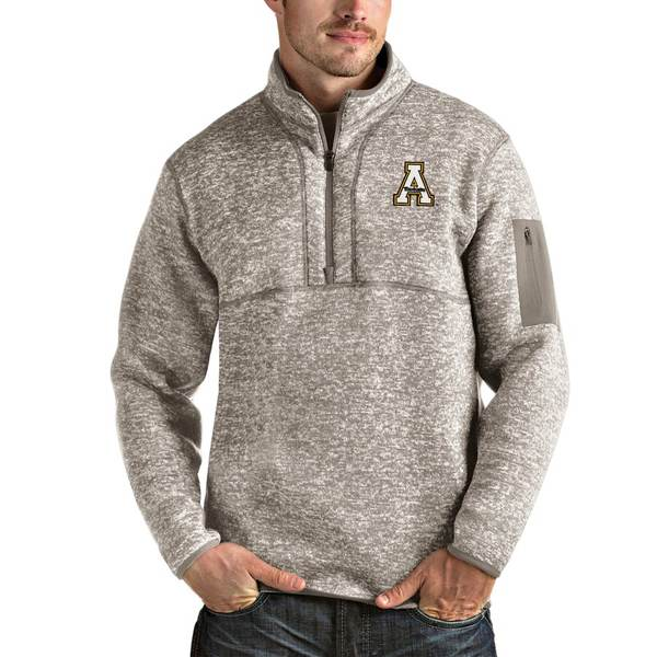 アンティグア メンズ ジャケット&ブルゾン アウター Appalachian State Mountaineers Antigua Fortune Half-Zip Pullover Jacket Oatmeal