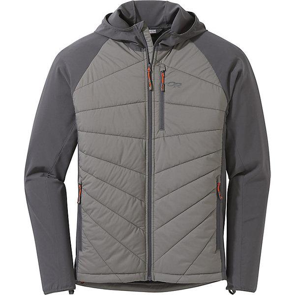 アウトドアリサーチ メンズ ジャケット&ブルゾン アウター Outdoor Research Men's Refuge Hybrid Hooded Jacket Pewter/Storm