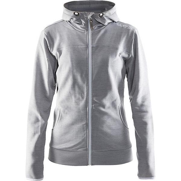クラフトスポーツウェア レディース ジャケット&ブルゾン アウター Craft Women's Leisure Full Zip Hood Jacket Grey Melange