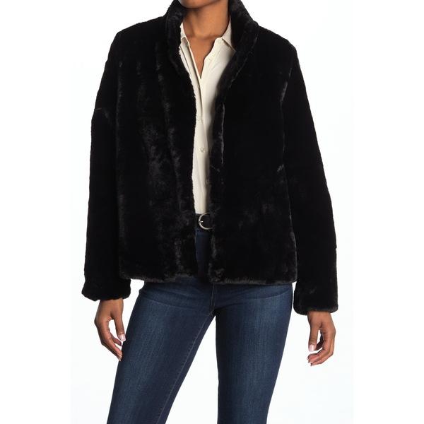 アウター レディース Jacket ヴェロモーダ Short Thea Fur Faux ジャケット&ブルゾン BLACK