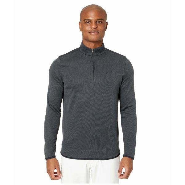 アンダーアーマー メンズ シャツ トップス Sweater Fleece 1/2 Zip Black/Black/Black