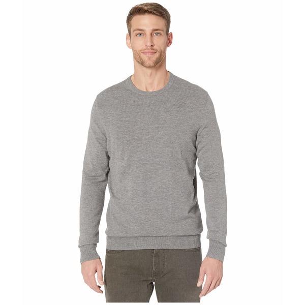 カルバンクライン メンズ ニット&セーター アウター Long Sleeve Liquid Touch Crew Neck Sweater Medium Grey Heather