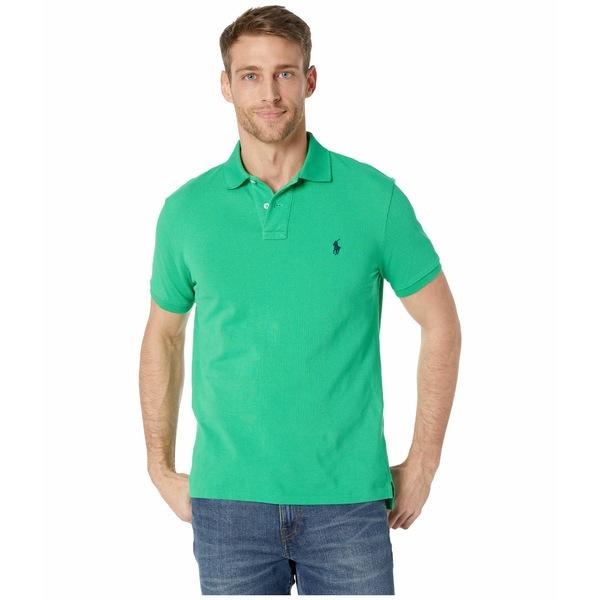 ラルフローレン メンズ シャツ トップス Custom Slim Fit Mesh Polo Green