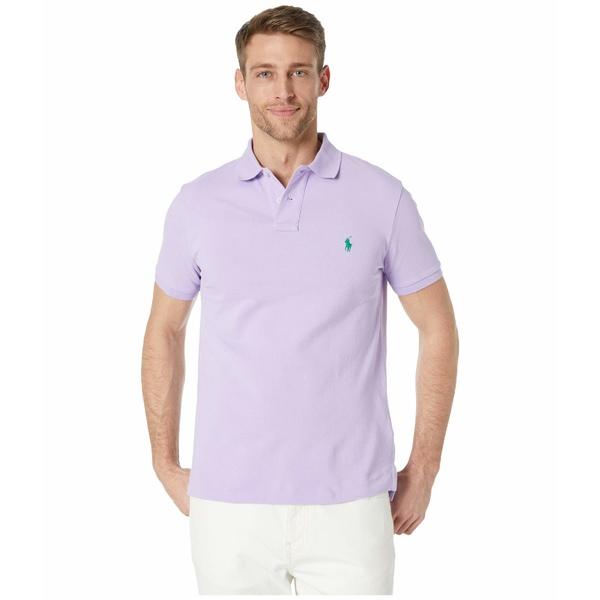 ラルフローレン メンズ シャツ トップス Custom Slim Fit Mesh Polo Purple