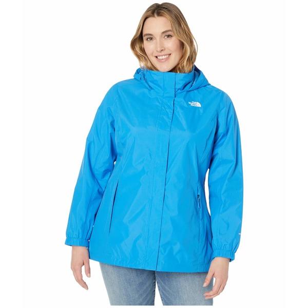 ノースフェイス レディース コート アウター Plus Size Resolve 2 Jacket Clear Lake Blue