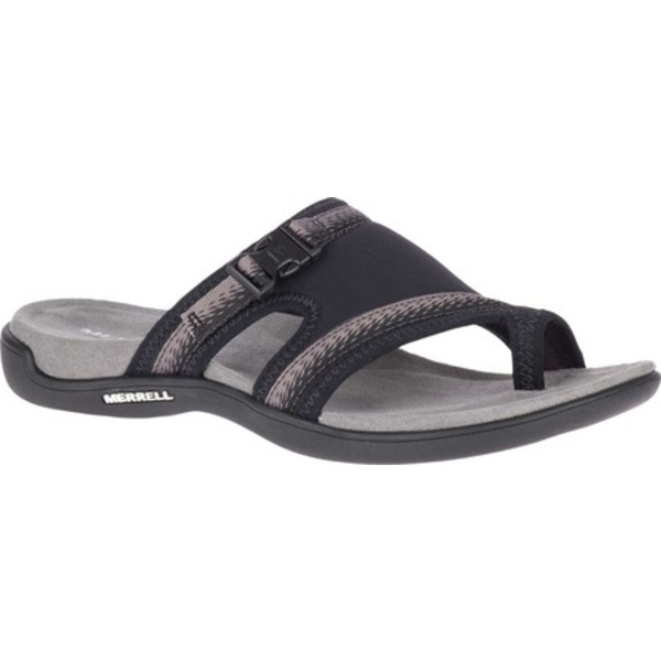 メレル レディース サンダル シューズ District Muri Wrap Toe Loop Sandal Black/Charcoal Textile/Lycra/Neoprene