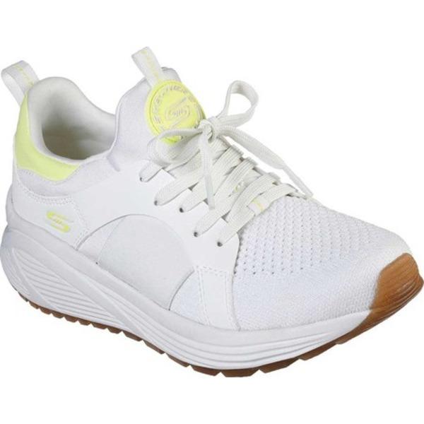 スケッチャーズ レディース スニーカー シューズ BOBS Sport Sparrow 2.0 Metro Daisy Sneaker White/Yellow