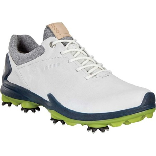 エコー メンズ スニーカー シューズ Golf BIOM G3 GORE-TEX Sneaker Shadow White/Dark Petrol Leather