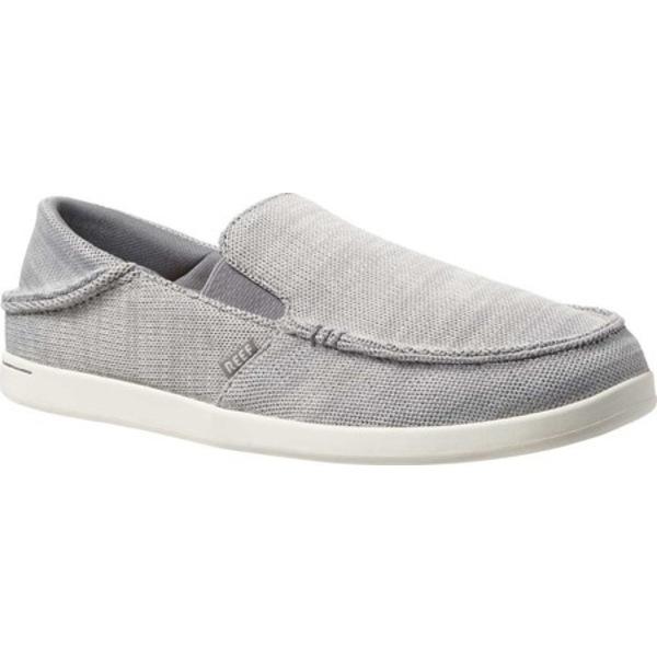 リーフ メンズ ブーツ&レインブーツ シューズ Cushion Bounce Matey Knit Slip-On Light Grey Polyester