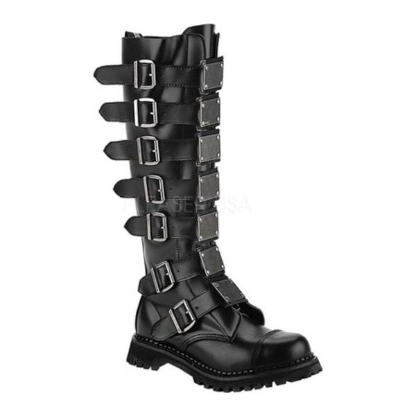 デモニア メンズ スニーカー シューズ Reaper 30 Black Leather