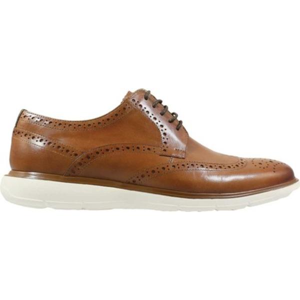 フローシャイム メンズ ドレスシューズ シューズ Ignight Wingtip Oxford Saddle Tan Smooth Leather