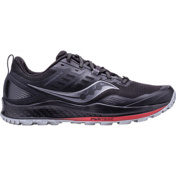 サッカニー メンズ スニーカー シューズ Peregrine 10 Trail Running Shoe Black/Red Trail Specific Mesh