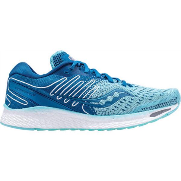 サッカニー レディース スニーカー シューズ Freedom 3 Running Sneaker Aqua/Blue Engineered Mesh