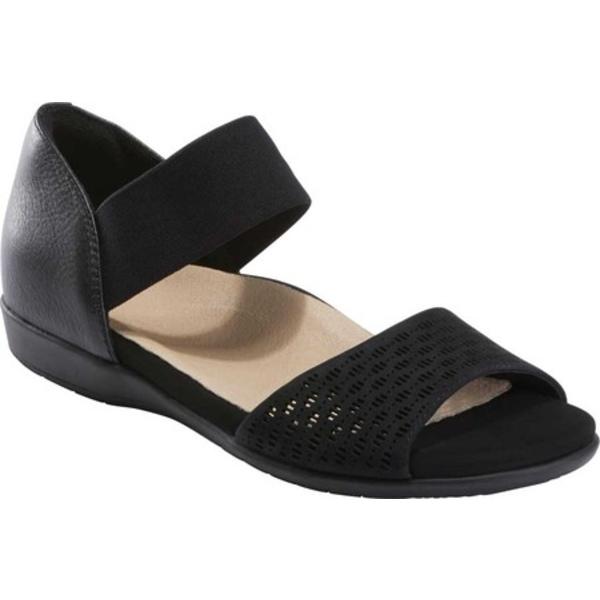 アース レディース サンダル シューズ Alder Amora Perforated Sandal Black Multi Nubuck